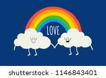 color rainbow with emotion... | Shutterstock .eps vector #1146843401