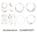 set of minimalistic floral...   Shutterstock .eps vector #1146844337