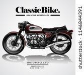 vintage motorcycle poster | Shutterstock .eps vector #1146844391