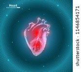 vector illustration of heart....   Shutterstock .eps vector #1146854171