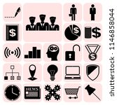set of 22 business icons  high... | Shutterstock .eps vector #1146858044