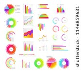 business graphic templates set  ... | Shutterstock .eps vector #1146859631
