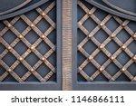 wrought iron gates  ornamental... | Shutterstock . vector #1146866111