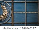 wrought iron gates  ornamental... | Shutterstock . vector #1146866117