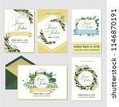 wedding invite  invitation menu ... | Shutterstock .eps vector #1146870191