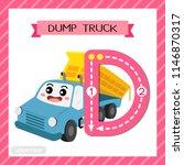 letter d uppercase cute... | Shutterstock .eps vector #1146870317