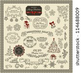 set of christmas design elements | Shutterstock .eps vector #114688009