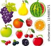 fruit illustration isolated on...   Shutterstock .eps vector #114688171