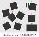 collection of photo frame with... | Shutterstock .eps vector #1146882257