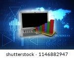 3d rendering stock market... | Shutterstock . vector #1146882947