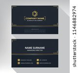 business model name card luxury ... | Shutterstock .eps vector #1146882974