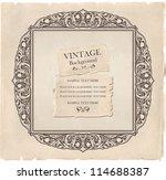 vintage background ... | Shutterstock .eps vector #114688387