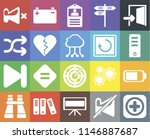 set of 20 icons such as add ...