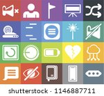 set of 20 icons such as more ...
