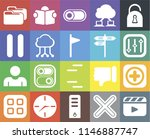 set of 20 icons such as video...