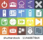 set of 20 icons such as frame ...
