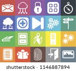 set of 20 icons such as photos  ...