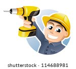 construction worker wearing...   Shutterstock .eps vector #114688981
