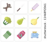 set of 9 simple editable icons... | Shutterstock .eps vector #1146892061