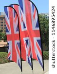 close up of union jack flags... | Shutterstock . vector #1146895424