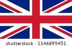 great britain flag vector... | Shutterstock .eps vector #1146895451