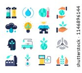 ecology flat vector icons | Shutterstock .eps vector #1146896144