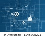 abstract technology background. ... | Shutterstock .eps vector #1146900221