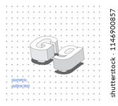 isometric outline 3d text.... | Shutterstock .eps vector #1146900857