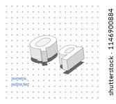 isometric outline 3d text.... | Shutterstock .eps vector #1146900884