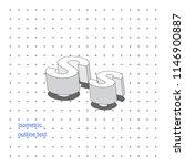 isometric outline 3d text.... | Shutterstock .eps vector #1146900887