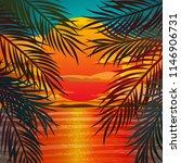 beautiful beach sunset... | Shutterstock . vector #1146906731