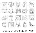 set of 20 icons such as phone...
