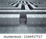 big concrete labyrinth concept... | Shutterstock . vector #1146917717