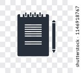 notepad vector icon isolated on ... | Shutterstock .eps vector #1146918767