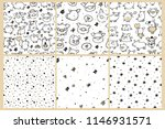 seamless pattern with cute... | Shutterstock .eps vector #1146931571