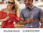 handsome man with his beautiful ...   Shutterstock . vector #1146932564