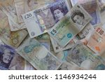 Background British Currency...