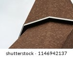 isolate dome with brown shingle ... | Shutterstock . vector #1146942137