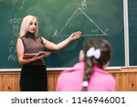 teacher tells the subject... | Shutterstock . vector #1146946001