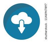 cloud download vector icon