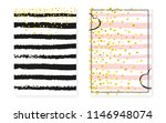 gold glitter dots with sequins. ... | Shutterstock .eps vector #1146948074
