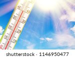 a very hot day in summer | Shutterstock . vector #1146950477