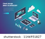 data cloud storage network... | Shutterstock .eps vector #1146951827