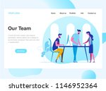 landing page template of work... | Shutterstock .eps vector #1146952364