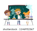 funny little girl doing... | Shutterstock .eps vector #1146952367