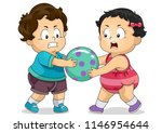illustration of kids toddlers... | Shutterstock .eps vector #1146954644