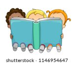 illustration of kids toddler... | Shutterstock .eps vector #1146954647