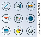 job icons colored line set with ... | Shutterstock .eps vector #1146958784