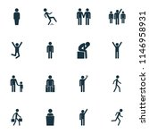 human icons set with jogging ... | Shutterstock .eps vector #1146958931