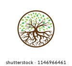 creative tree logo template ... | Shutterstock .eps vector #1146966461